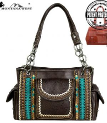 Montana West Tooled Collection Concealed Handgun Satchel
