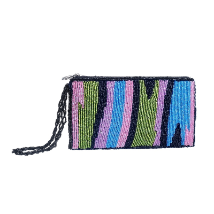 Pink Artisan Beaded Wallet