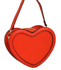 Textured Heart Faux Leather Messenger Bag