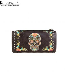 Montana West Sugar Skull Collection Wallet