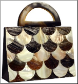 Mad by Design Fish Scales Handmade Shell Handbag