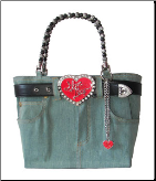 Licensed I Love Lucy Denim Bag