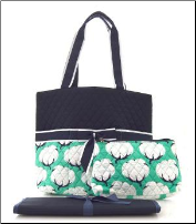 Cotton Fields Quilted Diaper Bag