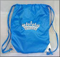 Crown Embroidery Drawstring Backpack