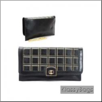 ENVELOPE CLUTCH BAG WITH STITCH PATTERN