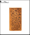 Montana West Genuine Tooled Leather Collection Phone Charging Men's Wallet