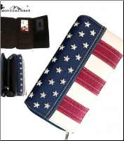 Montana West Patriotic Collection Secretary Style Wallet