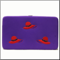 Red Hat Embroidered Flat Wallet