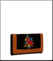 Quilted Pattern Floral Embroidery Wallet