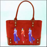 Red Hat Three Ladies Handbag