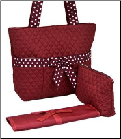 Solid Quilted Diaper Bag Tote