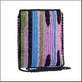 Pink Artisan Beaded Zipper Crossbody