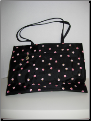 Sunny Hawaii Black Beach Bag with Pink Flowers