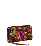 Floral Decor Genuine Leather Wallet