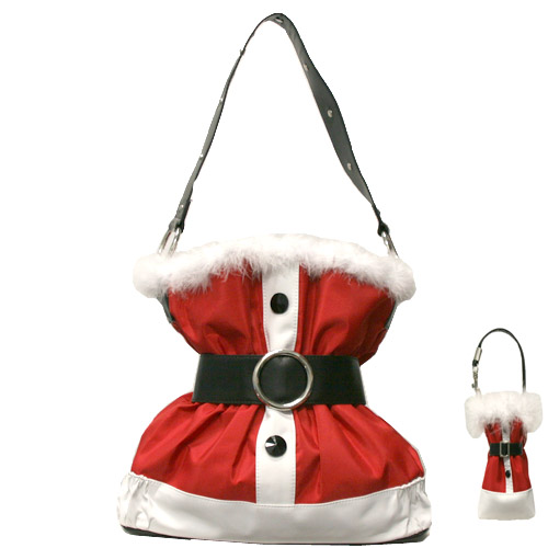 Santa claus christmas handbag